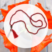mothers day gift guide crimson red coral mala handmade boyajian jewelry