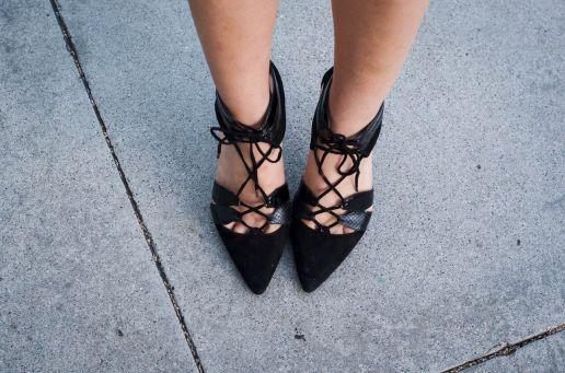 chantal boyajian zara blak high heels