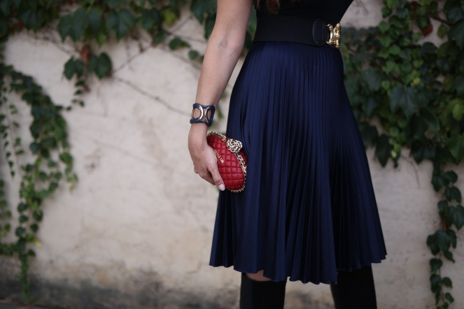 nicole lee usa red clutch scarf midi skirt chantal boyajian live authenchic style.jpg