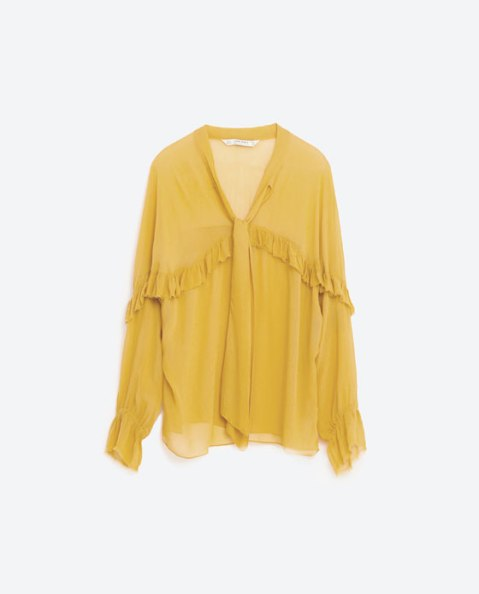 zara-frilled-flowing-blouse-mustard-yellow