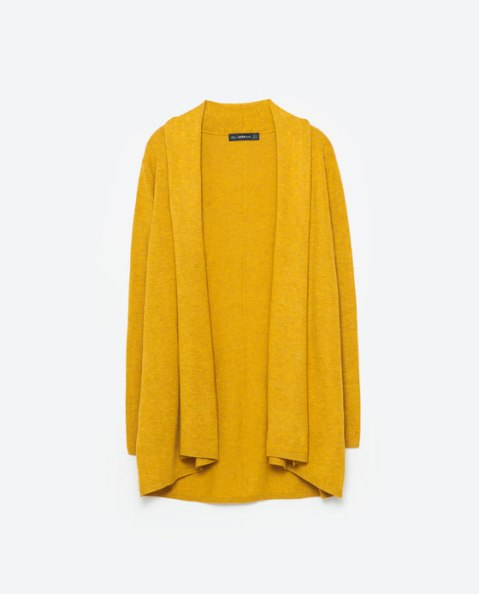 zara-yellow-cowel-neck-cardigan