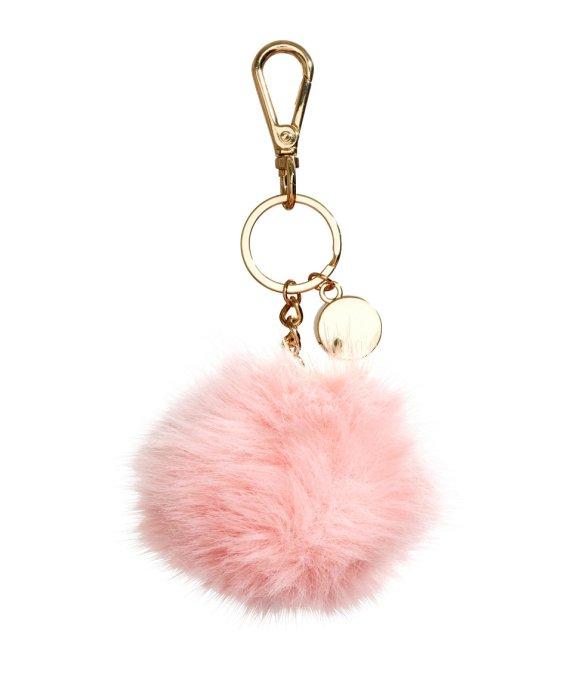 h and m HM pom pom pink keychain live authenchic